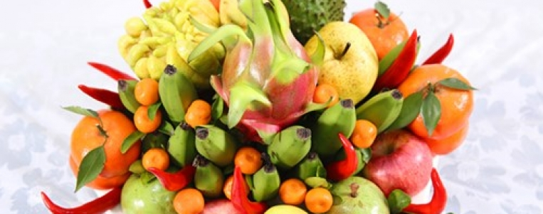 The five-fruit tray at traditional Tet